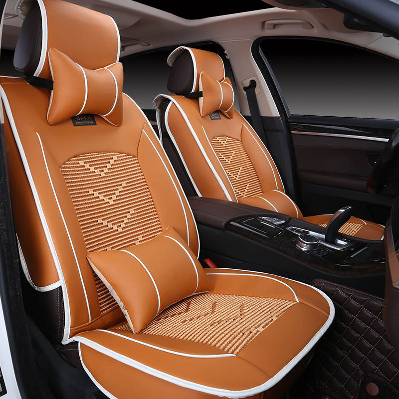 New Ice Silk Custom Car Seat Cover Universal Cushion Car Cushion Car Modeling For Bmw Audi Honda Crv Honda Nissan All Cars Automobiles Seat Covers