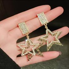 2019 New Fashion Five-pointed Star Studs Earrings for Women Best Selling Simple Popular Gold Stars Jewelry Wholesale