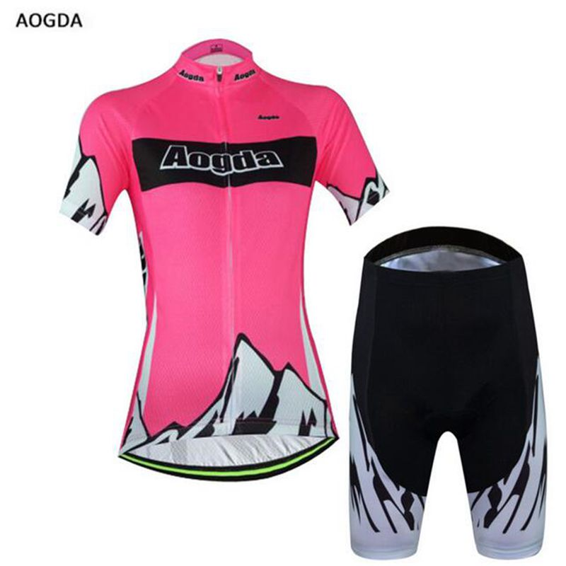 AOGDA 2017 Outdoor Women Bicycle Cycling Quick Dry Jersey Ropa Ciclismo Breathable Clothing Wear Jersey BIB Shorts Pad Bike Sets breathable quick dry bike ropa ciclismo skintight short sleeve cycling jersey clothes gel pad bicycle cycling clothing