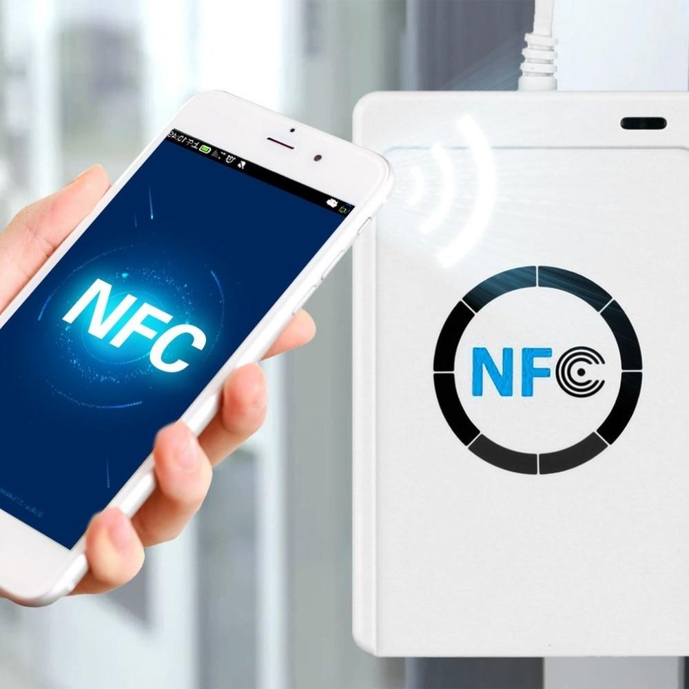RFID NFC Lecteur de Carte à puce Lecteur ACR122U Beschrijfbare Kloon Logiciel USB S50 13.56 mhz ISO/IEC18092