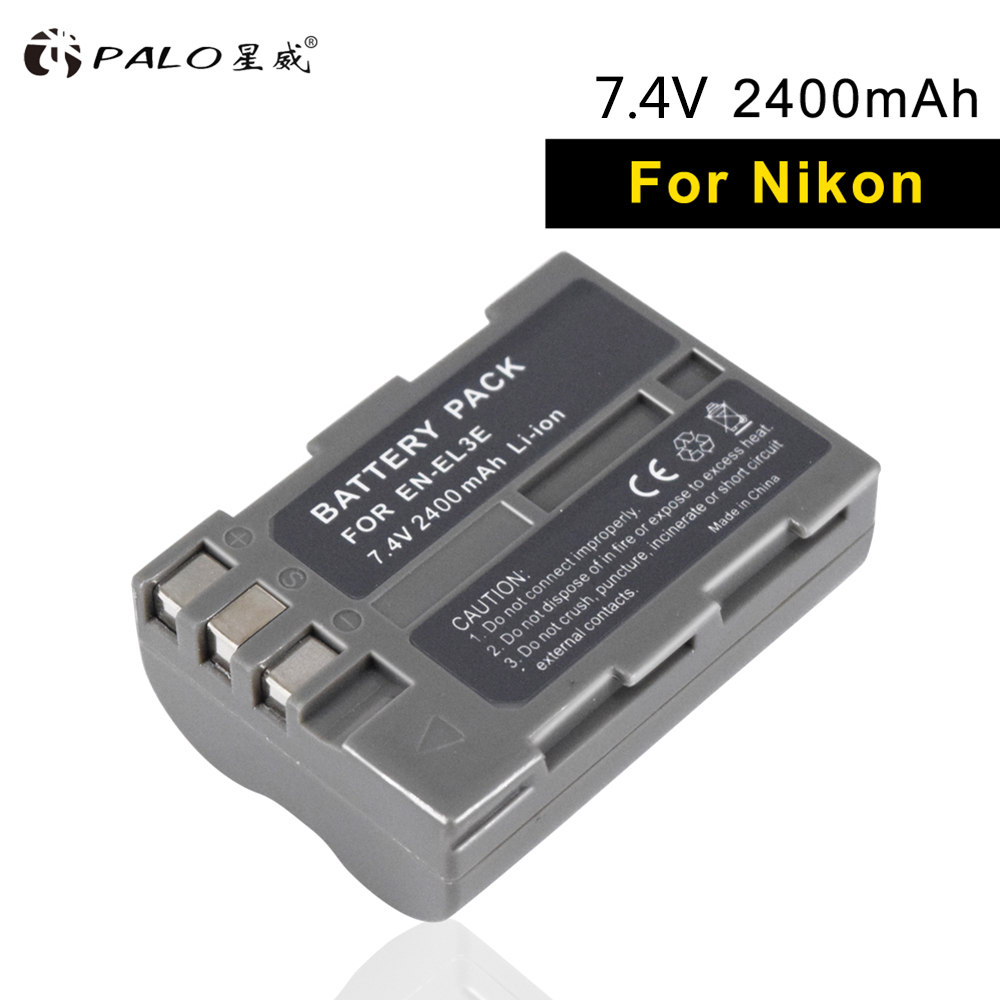 PALO camera battery EN-EL3E rechargeable battery el 3e 7.4V 2400mAh 1 pcs li-ion digital For NIKON d700 d90 d200 d300S d70 d100