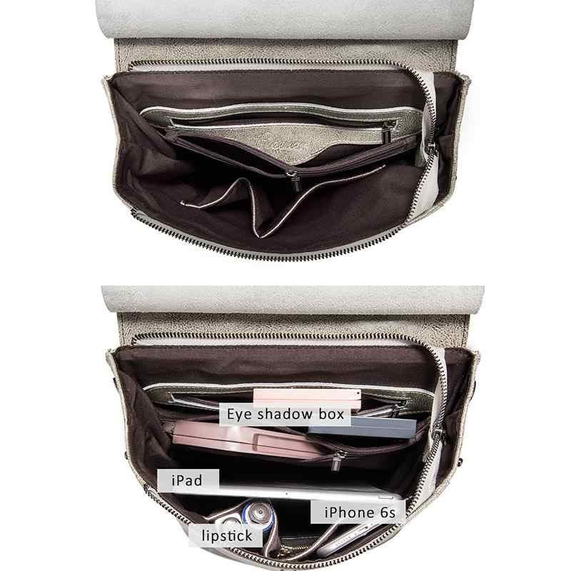 Женский рюкзак REALER, кожаный рюкзак, школьная сумка для подростков, винтажная сумка, большая дорожная сумка, женская сумка на плечо