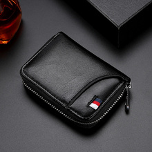 цена на 2019 Fashion Genuine Leather Women Wallet And card holder Coin Purses Female Mini Rfid Wallet Ladies Purse For Girl Money Bag