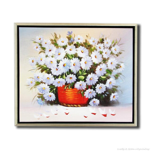 Free Shipping Handmade Flower Oil Painting On Canvas Modern 100% Best Art China Aster Flowers Oil Painting For Home Decor