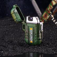 Wodoodporna zapalniczka plazmowa USB z podwójnym łukiem na zewnątrz Camping Sports zapalniczka do palenia tanie tanio Pzwzjpz acrylic