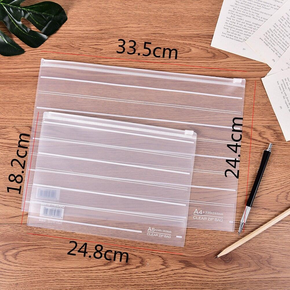 Office & School Supplies Intelligent A5 Unicorn Grenadine Transparent File Folder Document Filing Bag Stationery Bag Durable Service File Folder