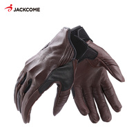 JACKCOME Sheepskin Leather Motorcycle Racing Waterproof Windproof Cycling Bicycle Riding Moto Mitten Guantes Ciclismo MG13200