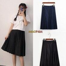 b7a8950dc Japanese Style Women's Cute Girls Student Uniform JK Solid Pleated Skirt  Knee-length Skirt 2