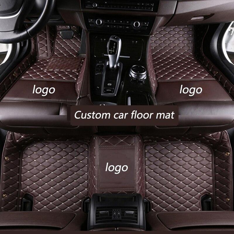 Kalaisike Personnalisé tapis de sol de voiture pour Audi tout modèle A1 A3 A8 A7 Q3 Q5 Q7 A4 A5 A6 S3 S5 S6 S7 S8 R8 TT SQ5 SR4-7 style de voiture - 2