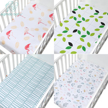 100% Cotton Crib Fitted Sheets Super Soft Breathable Toddler Sheet Soft Baby Bed Mattress Protectors Covers For Girls & Boys