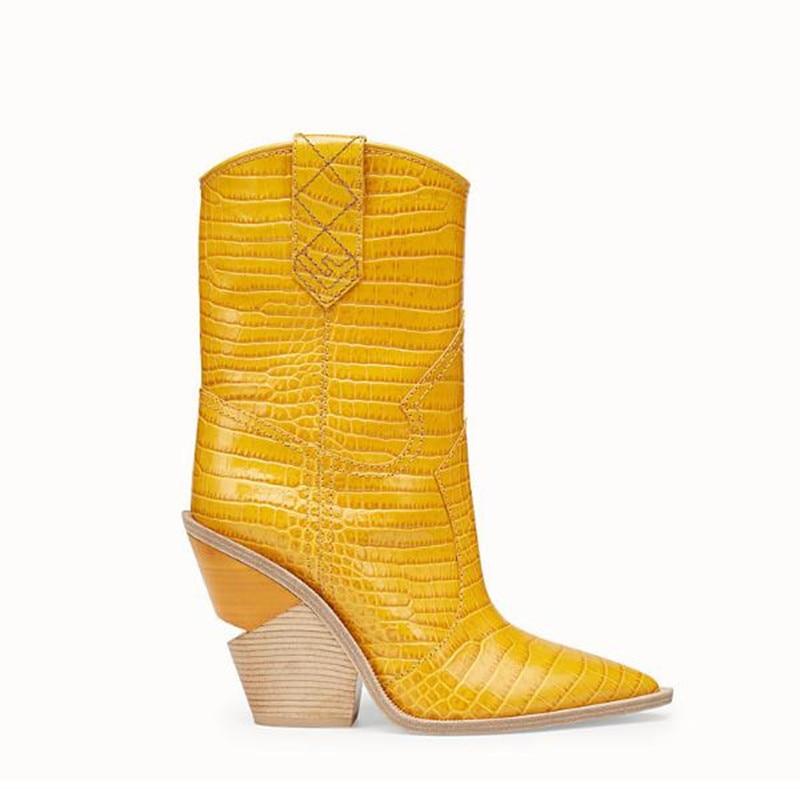Jaune yellow brown Wedge Grande Bottes Taille De Mode pink 41 Talons New 43 Boty 2019 42 À Hauts Avec Bleu Pointu Black Chaussures Femmes blue wfFnZqS