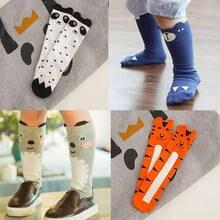 Детские чулки; гетры для девочек; детские шелковые гетры с принтом лисы, медведя; детские шелковые чулки с рисунком панды; гетры