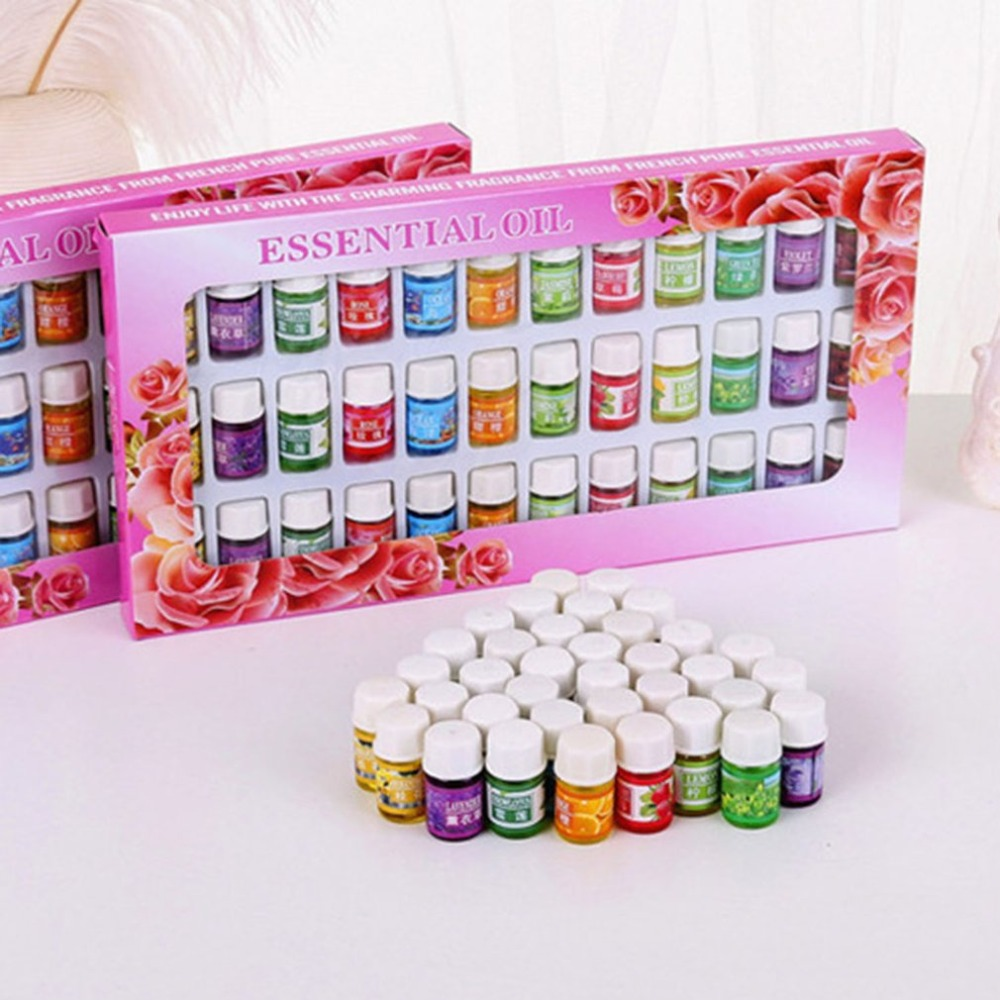 NEW 36Pcs/Set Skin care Aromatherapy Essential Oil 12 Kind 3ML Fragrance Aromatherapy Oil Natural Spa Oil Pack 12 bottles 3ml spa plant essential oils with aromatic aromatherapy oil household daily supplies cured flavor home air care