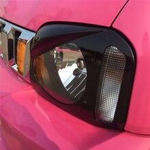 1 пара автомобильных фар абажур Щит Защитная декоративная перегородка фара абажур Накладка для Suzuki Jimny 2007- черный