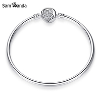 New Authentic 925 Sterling Silver Charm Bead You Re A Star Lock Clip Crystal Fit Pan