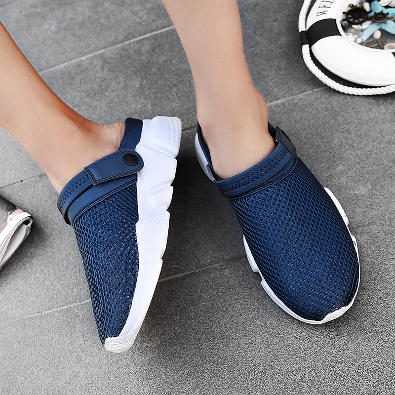 Sandals Men Slippers Air Mesh Shoes Mules Clogs (42)