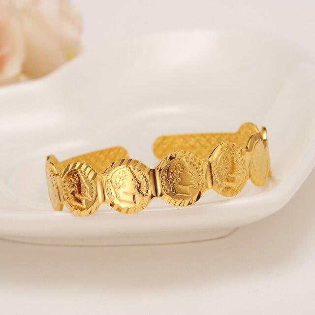 Индиадубаи Золотая Марка ребенка монета-браслет женщины девушка браслет африканские дети Bairn ювелирные изделия Мужчины mideast мальчик арабский Подарок