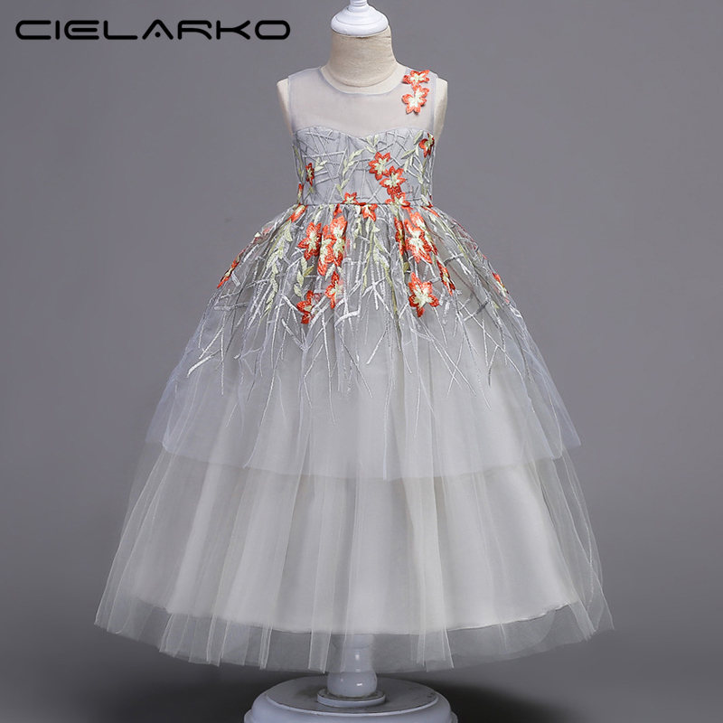 fbab7d5bb5 Cielarko Girl Dress For Teen Children s Clothing Ceremony Events Girls  Party Dresses Lace Teenage Wedding Gown