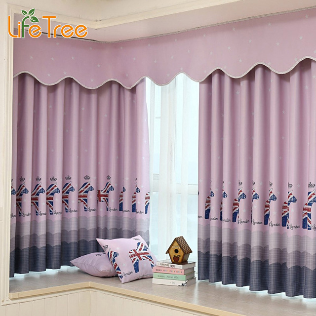kids short curtains in bedroom horse printed window blackout for children room window drapes custom made - Short Curtains For Bedroom