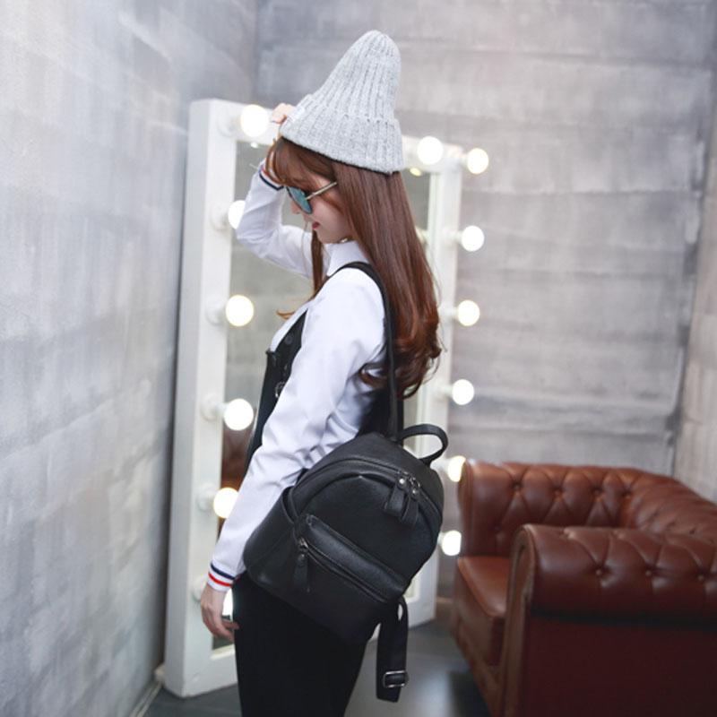 Korean Style New Arrival Hot Selling School Bags For Teenagers Casual Brief Travelling Women's Leather Backpack Gq1173 #4