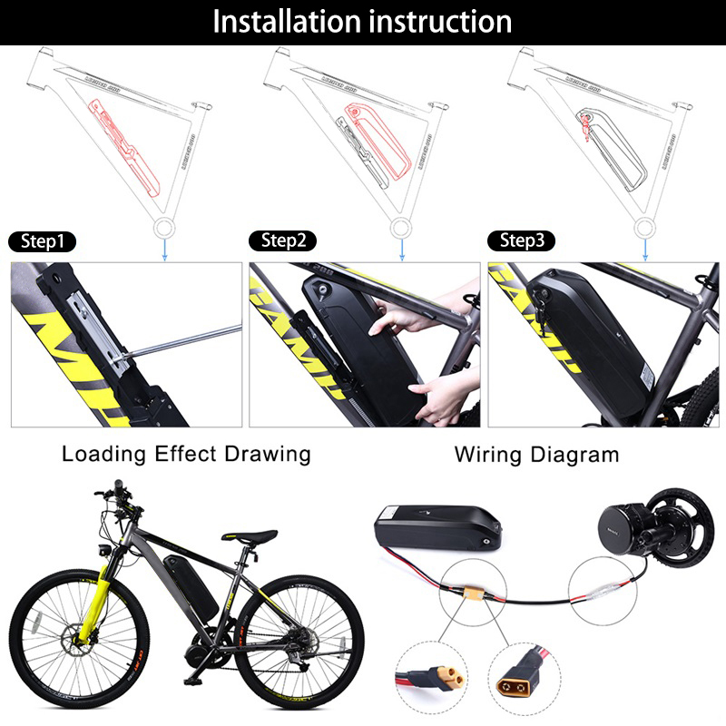Sale 48V 750W Bafang BBS02B Mid Drive Motor Electric Bike Conversion Kit with Lock 12Ah/17.5Ah Bicycle Battery built in Samsung Cell 23