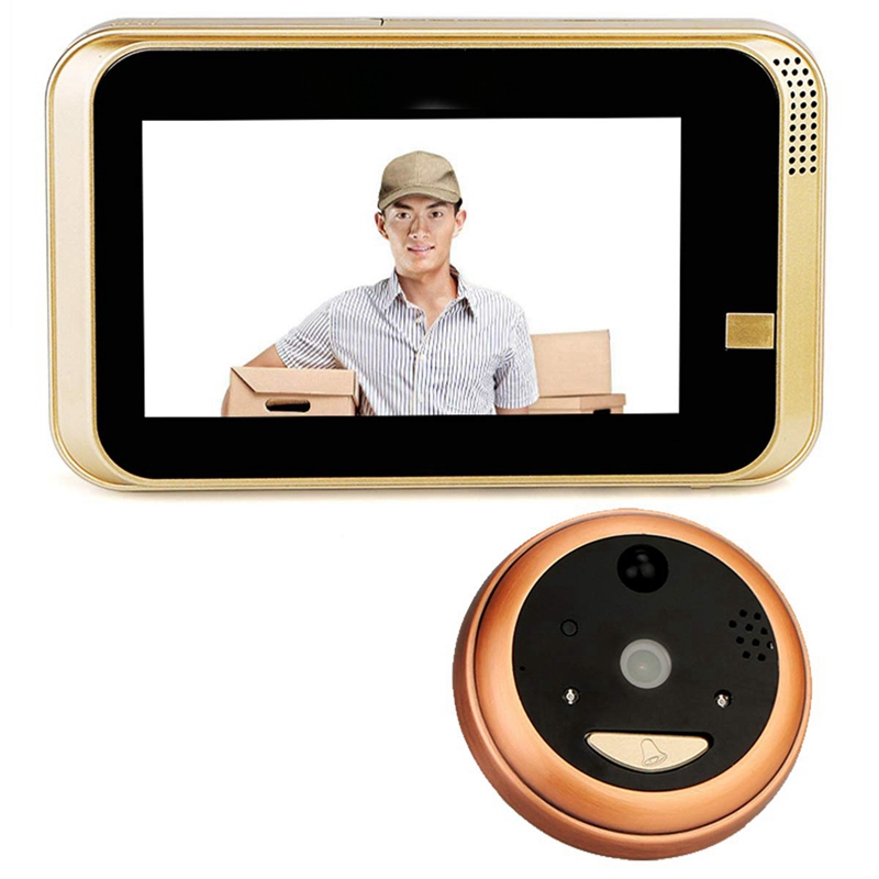 Smart IP Wifi Peephole Video Doorbell 720P Security Camera Door Viewer Motion Detection For Android IOS Smartphone