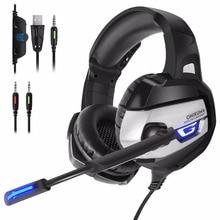 3.5mm Fone de ouvido de Jogos Com Splitter Para Computador Com Microfone Jogos fone de ouvido PS4 Para PlayStation 4 Nova Caixa De Um PSP Portátil PC