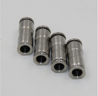 tube size 16mm pneumatic stainless steel 316 straight union fitting