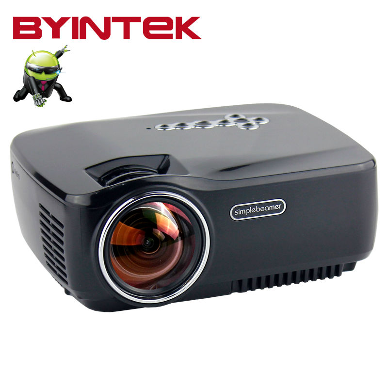 Smart Android 1080P Bluetooth HDMI USBHome Theater  BYINTEK aM01p Video Mobile phone LCD LED Mini Projector Proyector Beamer