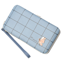 Multifunctional Korean version of the coin purse butterfly lunch box bag ladies wallet long pencil case mobile phone
