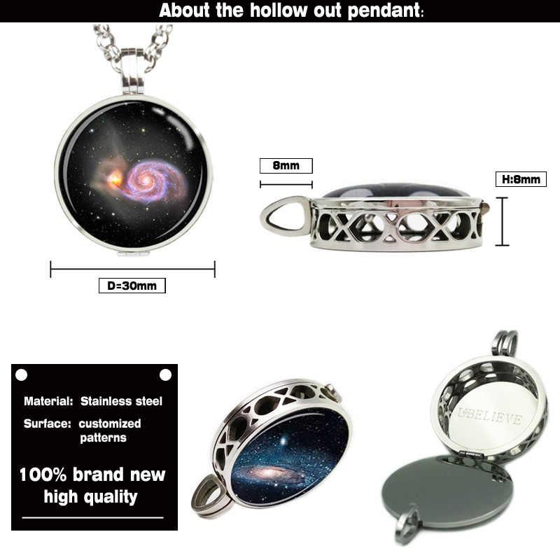 Mode 316L edelstahl Aushöhlen Customized Bild Atomatherapy Diffusor Medaillon Halskette Mit Ketten