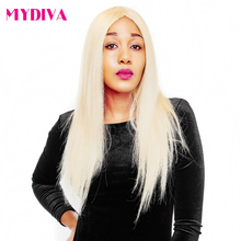 Mydiva 613 Blonde Hair Weaves Brazilian Hair Bundles 100% honey Straight Hair Extensions No Shed Tangle Non-remy Can Last 1 year