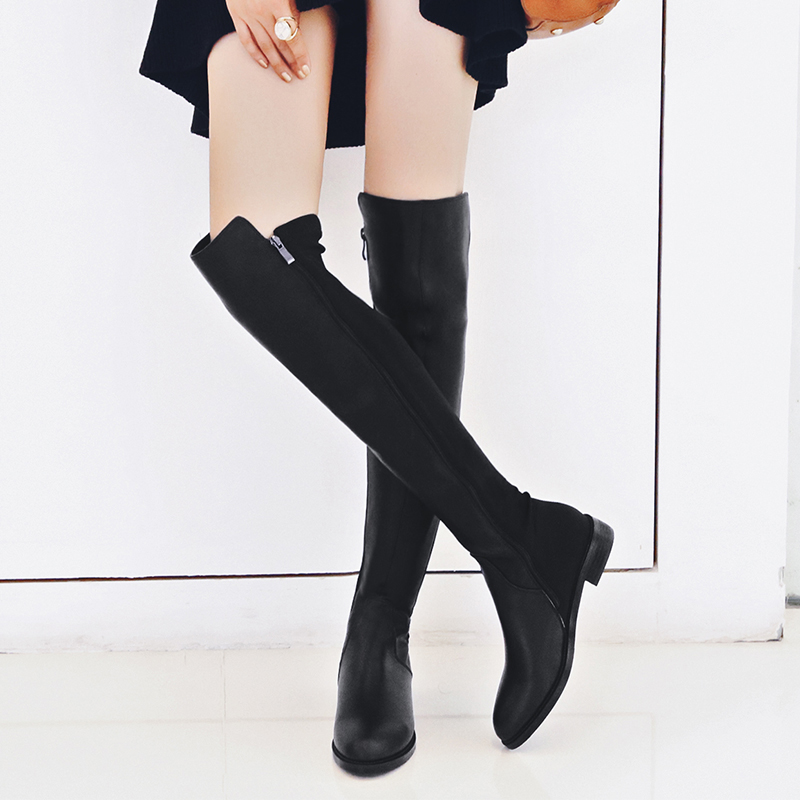 European Style Sexy Luxury Women s Boots Shoes VALLU Latest Thigh High Fur Booties Lady Over