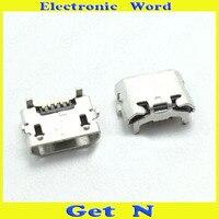 100pcs OX Horn 2DIP Micro usb 5P Female Charger Socket USB Charging Port