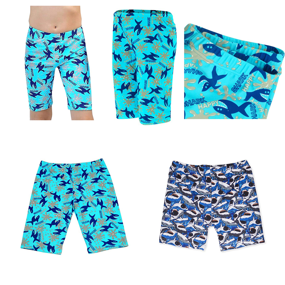 THIKIN Boys Summer Swimming Trunks Fire Ice Football Soccer Printing Bathing Beach Swimsuits Breathable Blue Children Swimwear in Men 39 s Trunks from Sports amp Entertainment