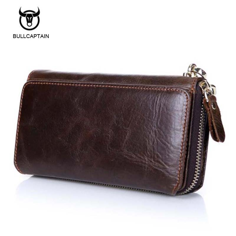 Bullcaptain New Design Fashion Genuine Leather Clutch Bags Business Men Wallets Casual Multi Slot Card Holder Vintage Purses конструктор стабилизатор напряжения радио кит rp103
