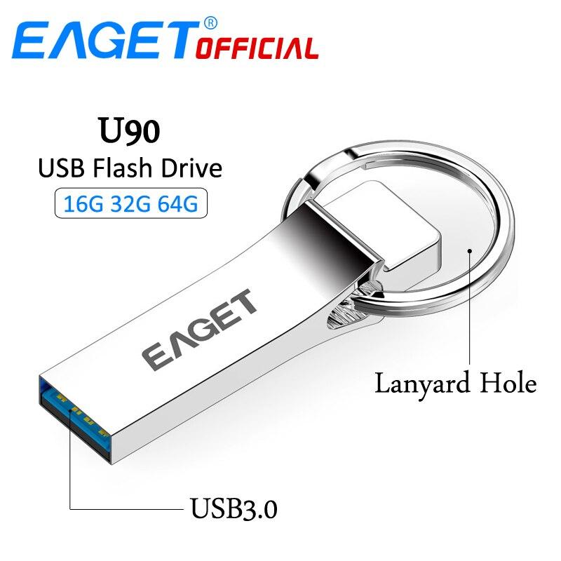 EAGET USB Flash Drive 64gb 32GB 16GB USB 3.0 High Speed Waterproof Memory Flash Stick Pen Drive Pendrive U Disk Storage Stick
