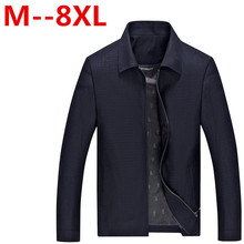 2017 New Winter / Casual Jacket Men's Cotton Brand Polo Jacket Fashion Men's Spring Motorcycle Jacket Coat Size 8XL 7XL 6XL 5XL
