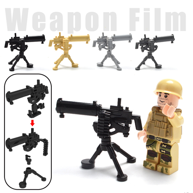 LegoINGlys Military Swat Weapon Building Blocks Guns Pack City Police Soldier Builder Series WW2 Army Accessories MOC Brick Toys