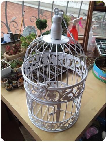 Premer-14cm, visoka 24cm, Continental Iron Birdcage dekorativni - Prazniki in zabave - Fotografija 1