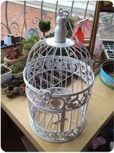 Бесплатная доставка. Diameter-14cm, высокая 24 см, Континентальный Железный Birdcage декоративные оконные украшения свадебный маленькой клетке. Классический