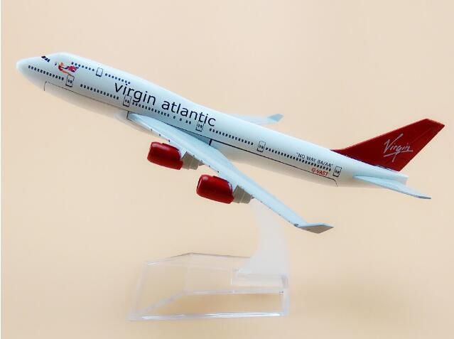plane model B747 The British Virgin Atlantic Airways aircraft B747 Metal simulation airp ...