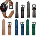 Унисекс ремешок для часов из искусственной кожи для Xiaomi Huami Amazfit PACE  сменный ремешок для наручных часов  кожаный браслет с ремешком 22 мм