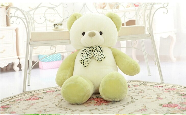 lovely new plush Teddy bear toy stuffed light green teddy bear with bow birthday gift about 80cm 1 piece light brown high quality low price stuffed plush toys large size100cm teddy bear 1m big bear doll lovers birthday gift