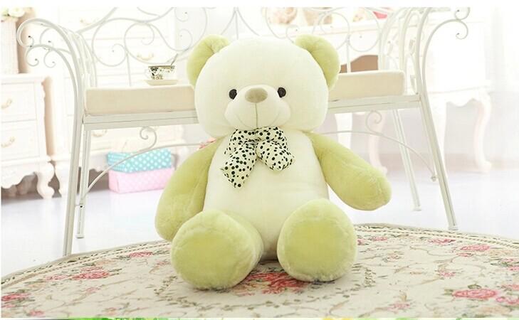 lovely new plush Teddy bear toy stuffed light green teddy bear with bow birthday gift about 80cm lovely giant panda about 70cm plush toy t shirt dress panda doll soft throw pillow christmas birthday gift x023