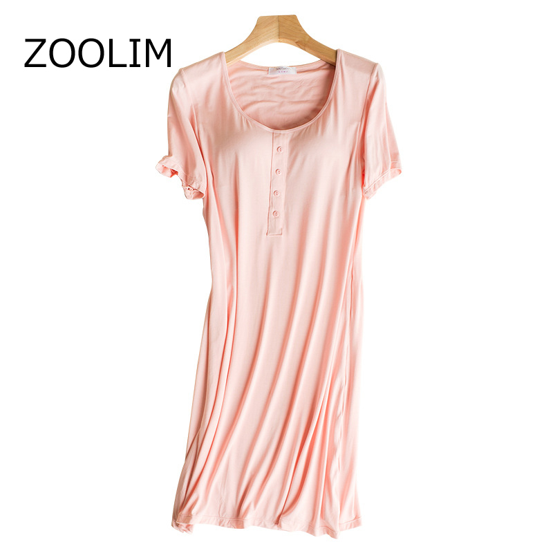 Women Sleepwear 100% Cotton with Chest Pads Modal Nightgown Sleeveless Night  Dress Stripes Home Wear b1c6a2ba1