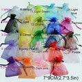 50 unids/bolsa Selección 24 Colores Joyería embalaje Drawable Organza Bags 7x9 cm, Bolsas de Regalo y Bolsas, bolsas de embalaje del envío