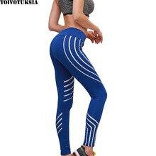 TOIVOTUKSIA Fashion Women Leggings Slim High Waist Elasticity Leggings Fitness Printing leggins Breathable Woman Pants Leggings