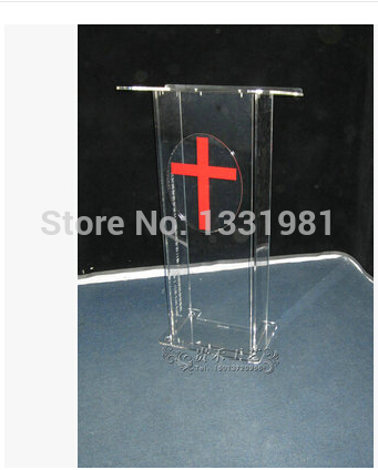 Small Cheap Acrylic Lectern / Plexiglass Pulpit / Perspex Rostrum Acrylic Desktop Lectern Cheap Acrylic Lectern