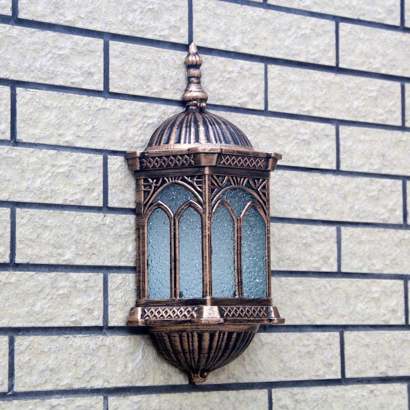 Antique villa gate wall lamp waterproof outdoor garden balcony outdoor courtyard external corridor wall light ZA418630 outdoor light aluminum wall lamp headlight lamp door square pillars villa courtyard lamp outdoor waterproof garden lights fg197